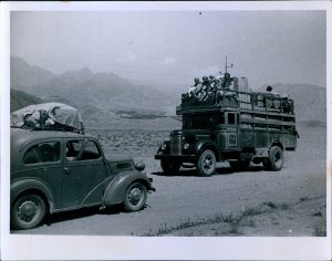 Jalalabad to the Khyber Pass...painted buses loaded with people and goods + us